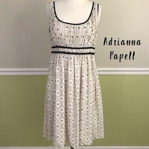 Adrianna Papell Tan/Black Sleeveless Dress 8